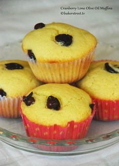 Muffin Monday: Cranberry Lime Olive Oil Muffins