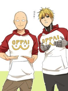 Imagen de one punch man, saitama, and genos