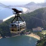 The gondola up to Sugar Loaf Mountain - Rio de Janeiro, Brazil