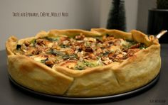 Spinach, Goat, Honey and Nuts Pie Easy Healthy Recipes, Vegetarian Recipes, Easy Meals, Holiday Appetizers, Spinach, Meal Planning, Meal Prep, Main Dishes, Vegan