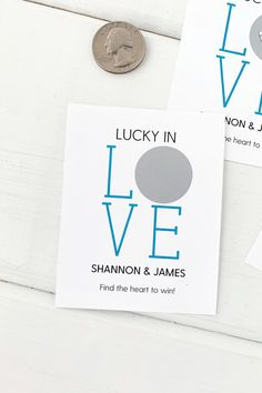 Lucky in love shower game, scratch off to reveal winner Bridal Games, Bridal Shower Decorations, Bridal Shower Favors, Wedding Favors, Scratch Off Tickets, Scratch Off Cards, Bridal Shower Presents, Off Game, Lucky In Love
