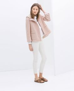 ZARA - NEW THIS WEEK - SHORT WOOL JACKET WITH HOOD