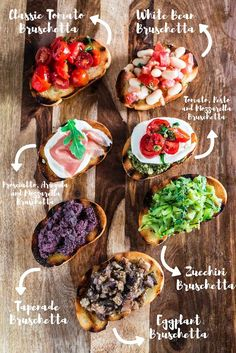 Build Your Own Bruschetta Bar - Olivia's Cuisine Bruschetta Bar, Tomato Bruschetta, Good Food, Yummy Food, Tasty, Party Food Bars, Bar Food, Cooking Recipes, Healthy Recipes