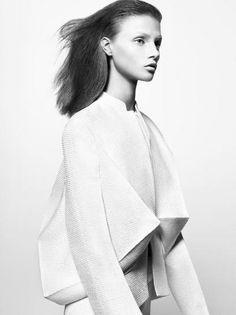 3D Structured Fashion - sharp line & fold detail; architectural fashion; sculptural fashion design