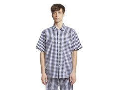 Henry Gingham shot sleeve pajamas - by Sleepy Jones
