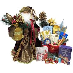 Santa in Silvery White Suit with Goody Bag - Christmas Gift Package - Send beautiful Santa packages for your Children by Letters and Gifts from Santa. All Gifts, Special Gifts, Christmas Bags, Christmas Holidays, Seashell Chocolates, Chocolate Santa, Holiday Greeting Cards, Goodie Bags, Holiday Festival