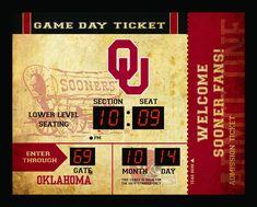 New! Oklahoma Sooners Clock - 14x19 Scoreboard - Bluetooth #OklahomaSooners