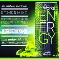 Did u know ItWorks has so many products even na Energy drink but healthier than all other :) ask me how u can get sine at my price