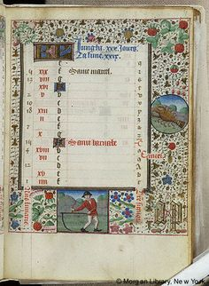Book of Hours, MS G.55 fol. 7r - Images from Medieval and Renaissance Manuscripts - The Morgan Library & Museum