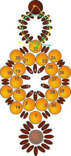 Beaded Sun Circle Bracelet Pattern by Allegra
