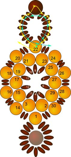 Retrouvez les perles en verre Perles & Co ici : http://www.perlesandco.com/Czechmates_Bricks_2_trous_6_mm_Azurite_Halo_x50-p-62533.html  Beaded Sun Circle Bracelet Pattern by Allegra