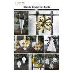 Classic Christmas Folds Gull - Papir & Stempler for hobbyentusiasten