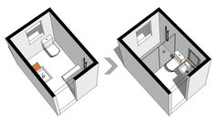 Diseño y distribución de baños - perspectiva