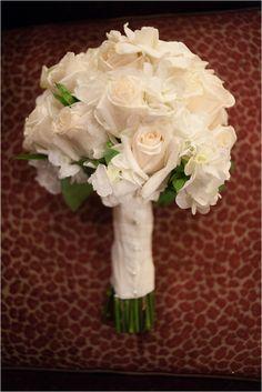 White Rosebuds & Hydrangea Bouquet