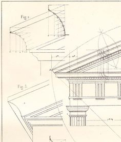 Facades Doric Order Architecture Drawing Vignola by carambas @sun San @piscesandfishes