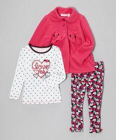 Look what I found on #zulily! Pink Rose Swing Jacket Set - Infant, Toddler & Girls #zulilyfinds