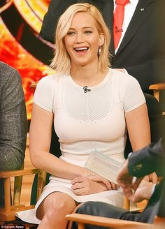 Promo trail: Jennifer Lawrence joined her Hunger Games co-stars for a special appearance on Good Morning America in New York City on Wednesday