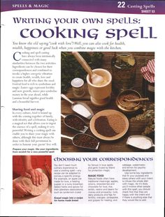 Enhancing Mind Body Spirit 22 Casting Spells Card 53 Writing Your Own Spells: Cooking Spell