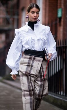 Checks and ruffles at LFW