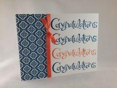 Stampin' Up! Sassy Salutations, Quatrefancy Designer Series Paper, Congratulations Card.