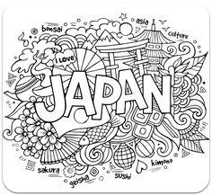 Раскраска Япония. Скачать узоры, для взрослых.  Распечатать антистресс