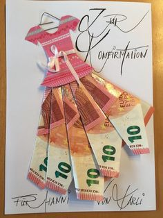 Geldgeschenke - New Ideas Birthday Goals, Birthday Cards, Craft Gifts, Diy Gifts, Don D'argent, Diy Arts And Crafts, Paper Crafts, Money Bouquet, Creative Money Gifts