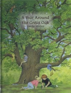 Benjamin and Anna love staying with their cousin Robin in his house near the forest.  In the autumn, Robin takes them to see his favorite tree - a giant oak which is 300 years old.  The children build a den under the oak tree's giant branches and watch the squirrels hide acorns in its wide trunk. A beautifully detailed seasonal story from Gerda Muller, illustrator of the beloved Seasons