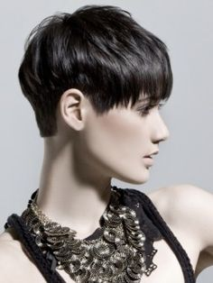 Hair: love the hairline, short in back, long in front