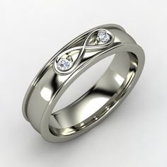 manlier style infinity band.  the diamonds are a bit like creepy eyes though D: