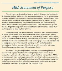 Mba personal statement