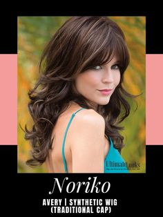 Avery Wig by Noriko. Long layers create soft wavy curls for real feminine appeal. #wigs #wigsmaker #wifglife