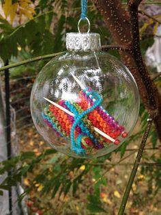 Kerstbal met breiwerkje | Creative Expressions