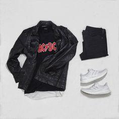 or : #WDYWTgrid by @adidassador #mensfashion #outfit #ootd : #Zara #ACDC : #Zara : #Adidas #Ultraboost #WDYWT for on-feet photos #WDYWTgrid for outfit lay down photos •