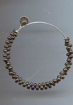 ALEX & ANI ENDLESS silver gray bubble glass bead bracelet - http://designerjewelrygalleria.com/alex-ani/alex-ani-endless-silver-gray-bubble-glass-bead-bracelet/