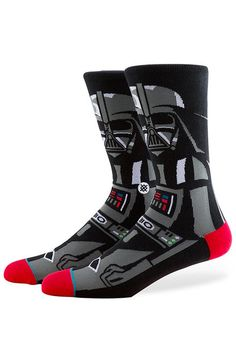 Stance Socks The Star Wars Vader Socks in Black - Karmaloop.com