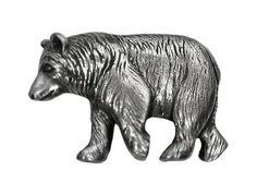 Danforth Black Bear 1 inch  24 mm  Pewter Metal by ButtonJones