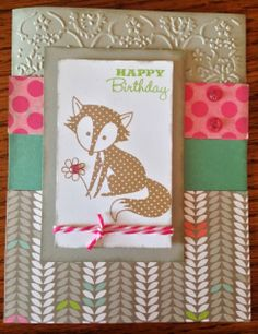 A fun card featuring the CTMH February 2014 Stamp of the Month created by http://scrappin4memories.blogspot.com.au