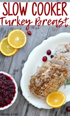 Here's a great recipe for how to make slow cooker turkey breast. Perfect for a holiday meal or regular weeknight when you need an easy and delicious dinner. Thanksgiving Recipes, Holiday Recipes, Great Recipes, Dinner Recipes, Thanksgiving Holiday, Christmas Recipes, Delicious Recipes, Holiday Ideas, Slow Cooker Turkey