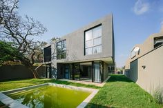 """Designed on an awkward 700m²residual site this modern 4 bedroom house is planned as a village around a central courtyard with multiple """"situations"""" and livi..."""