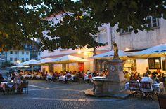 Old town in Ljubljana, Slovenia.