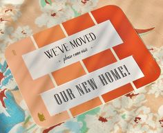 Welcome one and all to your home with this lovely paint chip invite.  Source: My Hands Made It