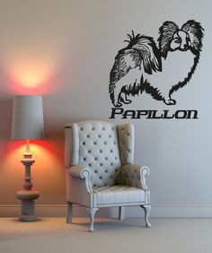 Vinyl Wall Decal Sticker Papillon #OS_AA627 | Stickerbrand wall art decals, wall graphics and wall murals.