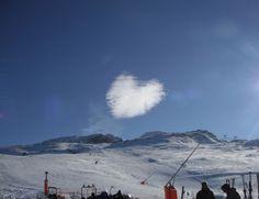 A heart over SuperDevoluy, Saint Etienne en Devoluy, France. Photo by Emily Morus-Jones