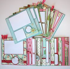 CHRISTMAS Through The Years 8 X Premade Scrapbook Page Layouts 20 9000 Via Etsy