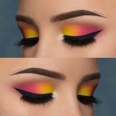 Love or not? Double tip for this eye make-up from - Love or not? Double tip for this eye make-up from The Effective Pictures We Offer You A - Pink Eye Makeup, Makeup Eye Looks, Colorful Eye Makeup, Eye Makeup Art, Smokey Eye Makeup, Makeup Inspo, Eyeshadow Makeup, Makeup Ideas, Eyeshadow Ideas