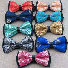 (5 pieces/lot) Chinese style bowtie/satin and polyester/ men's fashion leisure bow ties/25 kinds optional, free shipping