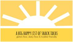 Gluten Free, Dairy Free (& Toddler-Friendly) Snack Ideas I One Lovely Life