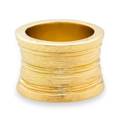 Drew Ring Gold from Melinda Maria is simple but makes a bold statement with its unique shape and texture.