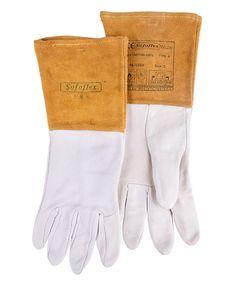 77.70$  Watch here - http://aliwcw.shopchina.info/go.php?t=32652917435 - TIG Argon arc welding safety glove long-sleeve goat skin leather firebreak welder work glove  #buyonline