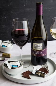 Lindt Chocolate and Wine Party from @bakingaddiction